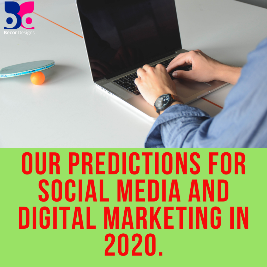Our Predictions for Social Media and Digital Marketing in 2020.